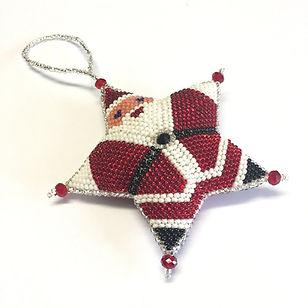 Women of Hope Guatemala Santa Star Ornament.