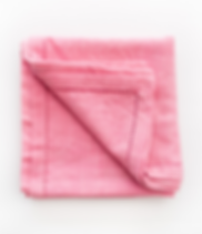 Karama Collection pink cotton baby blanket, handmade in Tanzania.