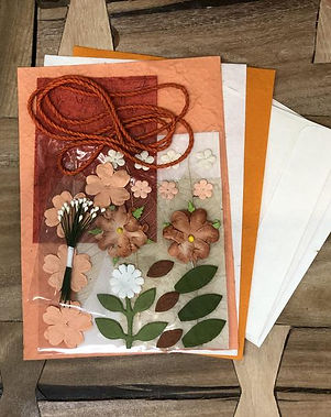 Shop With a Mission Do It Yourself Orange Card Making Kit