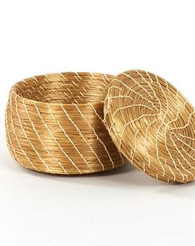 CrossTrade Golden Grass Basket. Fair trade and handwoven in Brazil