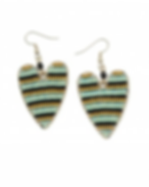 Dunitz Jewelry Striped Beaded Earrings. Fair trade and handmade in Guatemala.