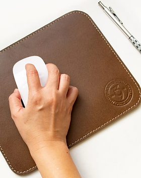 139Made Artisan Made Leather Mousepad which gives back to fight human trafficking.