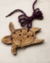 Rahab's Rope Handmade Wooden Turtle Animal String Toy. Fair Trade.