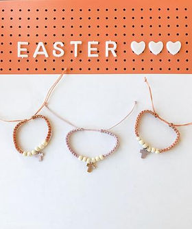 HUGG Mission Market Easter cross bracelets.  Handmade by young men in Haiti transitioning out of orphanages and learning business skills. https://huggmissionmarket.org/products/alabone-crosses
