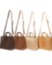 Karama Collection mini addis Ethiopian leather totes.