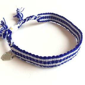 Education and More Blue and White Team Rally Bracelet.