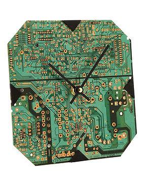 Ten Thousand Villages circuit board clock. Fair trade. https://www.tenthousandvillages.com/gifts-for-him/