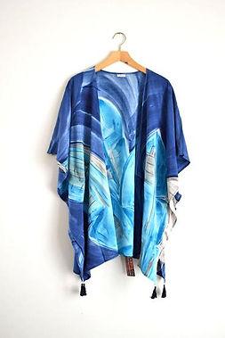 Elisha C kimono. Hand painted in Haiti. https://elishac.com/collections/apparel