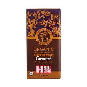 Equal Exchange caramel dark chocolate bar. Fair Trade. https://equalexchange.coop/products/chocolate