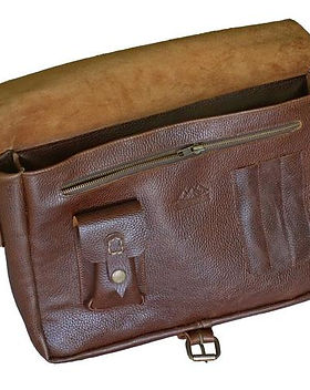 Atitlan Leather Courier Messenger Bag.