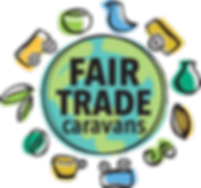 Fair Trade Caravans logo. Fair trade school fundraisers.
