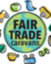 Fair Trade Caravans logo. Fair trade fundraisers for schools.