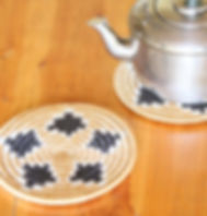 Azizi Life fair trade woven trivet. https://azizilife.com/products#home