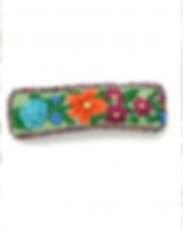 Dunitz and Company fair trade embroidered barrette handmade in Guatemala.