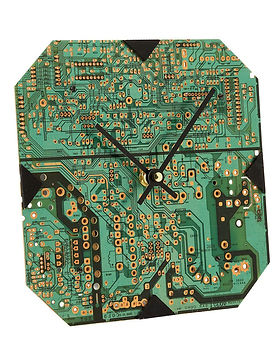 Ten Thousand Villages circuit board clock. Fair trade. https://www.tenthousandvillages.com/catalogsearch/result/?q=computer