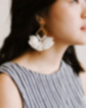 Starfish Project tassel earrings. Made by women escaping human trafficking and exploitation in Asia. https://starfishproject.com/product-category/all/