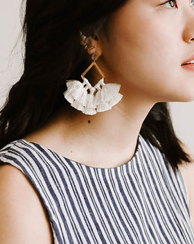 Starfish Project tassel earrings. Made by women escaping human trafficking and exploitation in Asia. https://starfishproject.com/