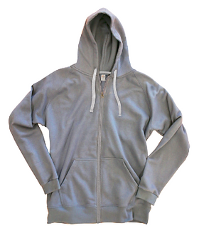 Goex Apparel zippered grey hoodie. https://goexapparel.com/product-category/shop-basics/fleece/