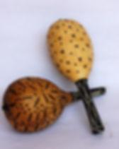 Azizi Life fair trade musical gourd shakers from Rwanda. https://azizilife.com/products/musical-shaker/