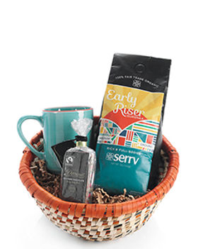 Serrv Coffee and Chocolate Gift Basket. Fair trade gifts. https://www.serrv.org/category/gift-baskets