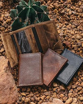 Atitlan Leather Handmade Leather Trifold Wallet for Men.