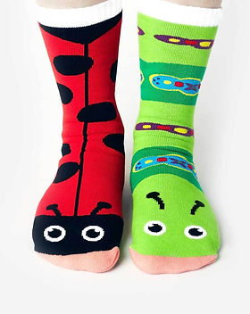Simple Switch Ladybug and Caterpillar Adult Socks