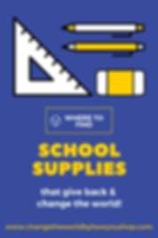 Fair trade school supplies & school supplies that give back: Best places to shop. Change the World by How You Shop: The U.S. Ethical Shopping Guide.