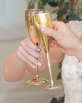 Ten Thousand Villages wedding goblets. Fair trade wedding gifts. https://www.tenthousandvillages.com/the-newlyweds