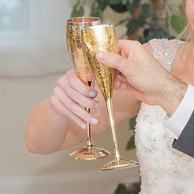 Ten Thousand Villages wedding goblets. Fair trade. https://www.tenthousandvillages.com/the-newlyweds