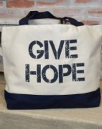 Eternal Threads give hope tote. Fair Trade. https://eternalthreads.org/product-category/accessories/bags/