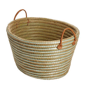Ten Thousand Villages laundry basket. Fair Trade. https://www.tenthousandvillages.com/baskets