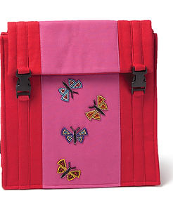 Worldcrafts pink butterfly backpack. https://www.worldcrafts.org/south-african-satchel