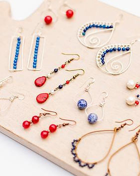 Rahab's Rope Fair Trade Fourth of July earrings.