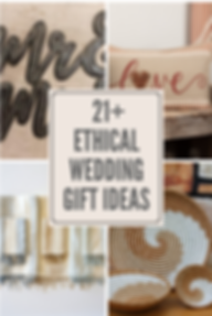 Best places to find fair trade, ethical & give back wedding gifts for the newlyweds.