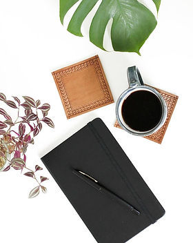 Jubilee Trading Handmade Moroccan Leather Journal and Coasters
