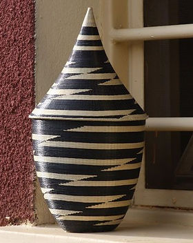 Azizi Life peace basket. Handwoven in Rwanda and fair trade. https://azizilife.com/