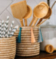 Azizi Life Kitchen Products. Fair trade and handcrafted in Rwanda.