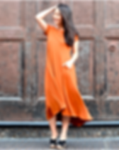Elegantees Fall Erica Dress in Copper. Ethically-made in Nepal. https://elegantees.com/collections/dresses