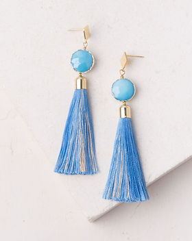Starfish Project tassel earrings.  Made by survivors escaping human trafficking in Asia.
