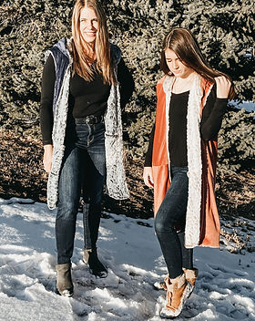 Landmine Design Faux Reversible Fur Vest.  Products handmade in Cambodia by women who would otherwise be at high risk for human trafficking.