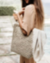 31 Bits open weave basket tote. https://31bits.com/collections/bags