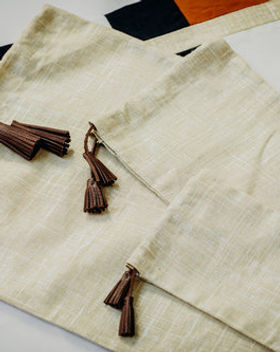 Haiti Design Co Linen Gift Bags with Tassels Set of 3.