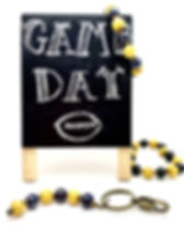 Papillon Game Day Keychains and Bracelets: Choose your favorite sports team colors.