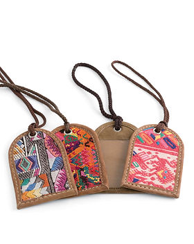 Noonday luggage tags. Fair trade. https://www.juliegodshall.com/