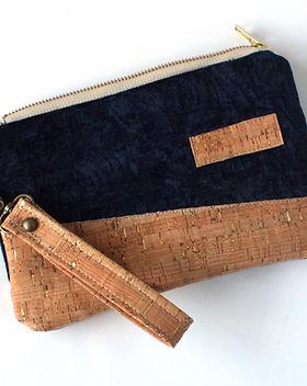 Persona Grata Choose Your Word Blue Velvet Cork Wallet.jpg