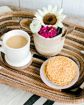SoloHope handcrafted woven tray.