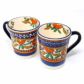 The Village Country Store flared coffee mugs. Fair trade.