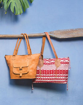 Noonday leather fair trade totes.
