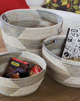 Made Trade Swahili Set of African Sewing Baskets