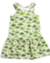 Wild Dill Dinosaur Dress. Organic and made in the USA.